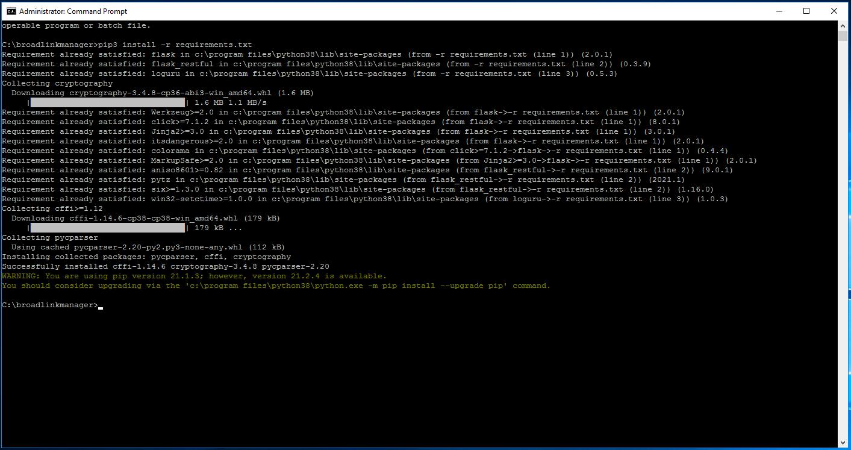 BroadlinkManager - install python requirements - Tomer Klein